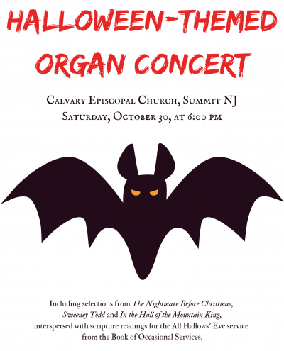 Halloween-themed organ concert